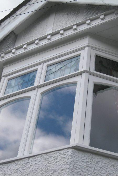 White Slim Frame Timber Casement Window