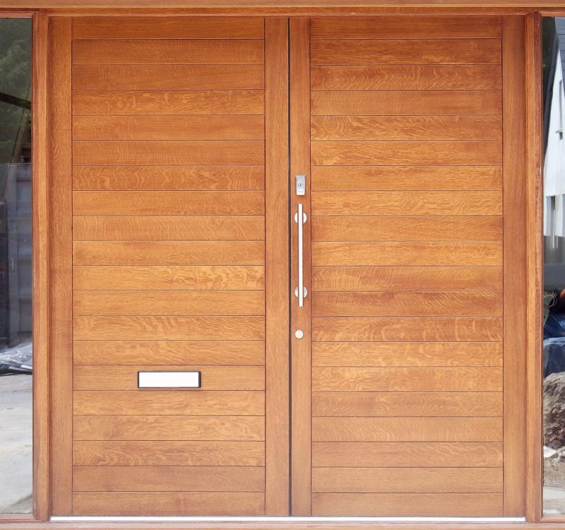 Entrance Timber Door with Windows