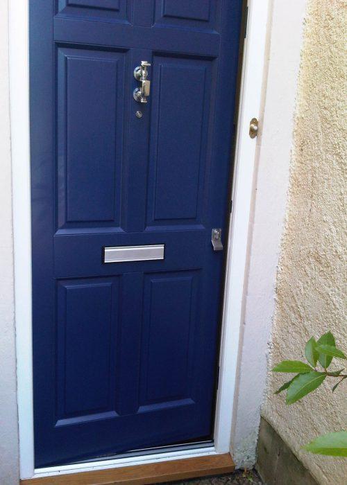 Hastings Blue Oil Coated Door