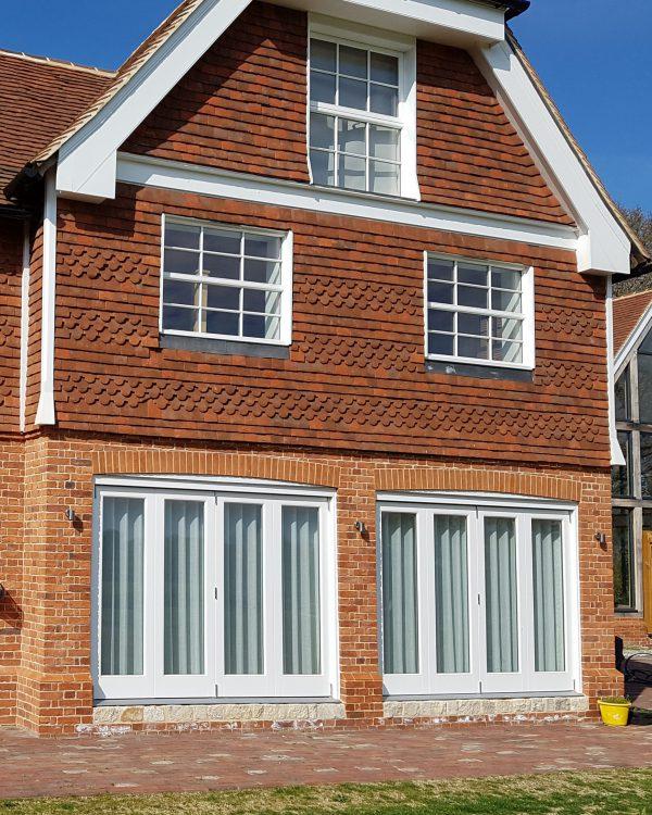 Bi-Fold Doors with brick walls
