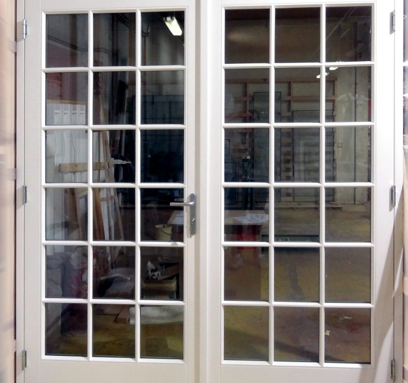 Production Double Door With Thin Putty