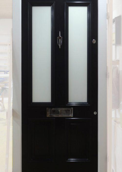 Black Timber Hardwood Door Sapele