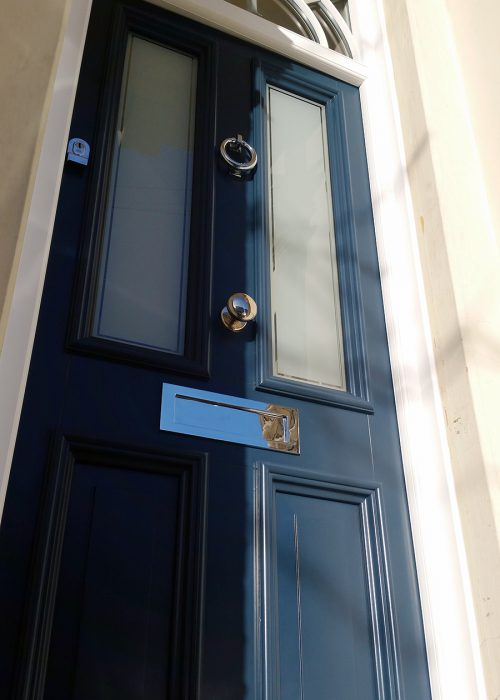 Blue Painted Entrance Door