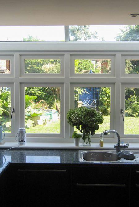 Inside View of the Kitchen Casement Windows