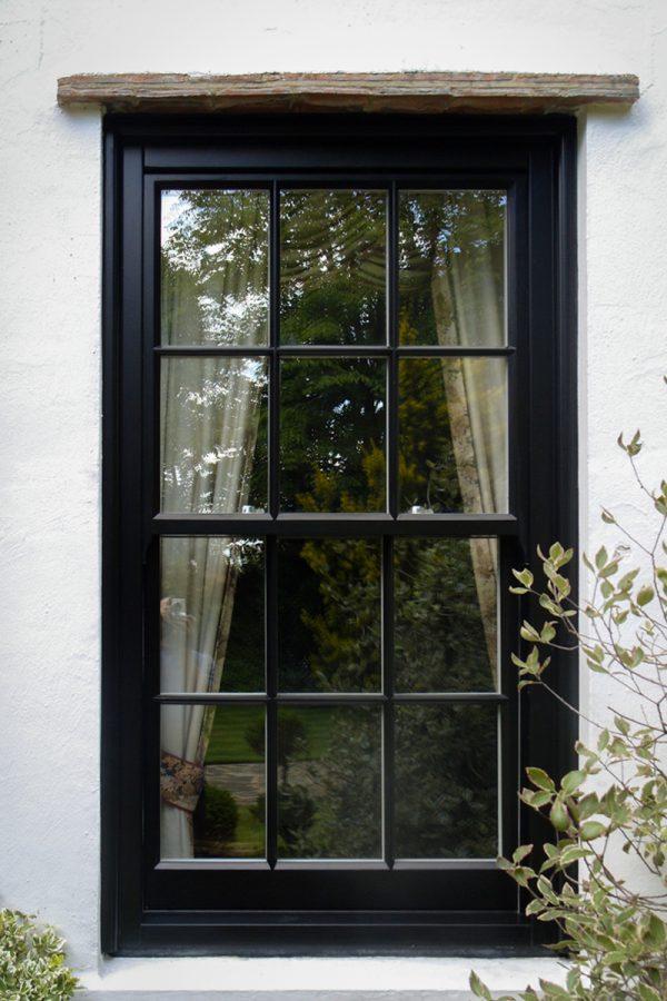 Cambridge Timber Sliding Sash Black Window